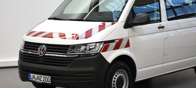 Passgenauer Warnmarkierungssatz nach DIN30710 für den VW T6.1 ab sofort lieferbar!