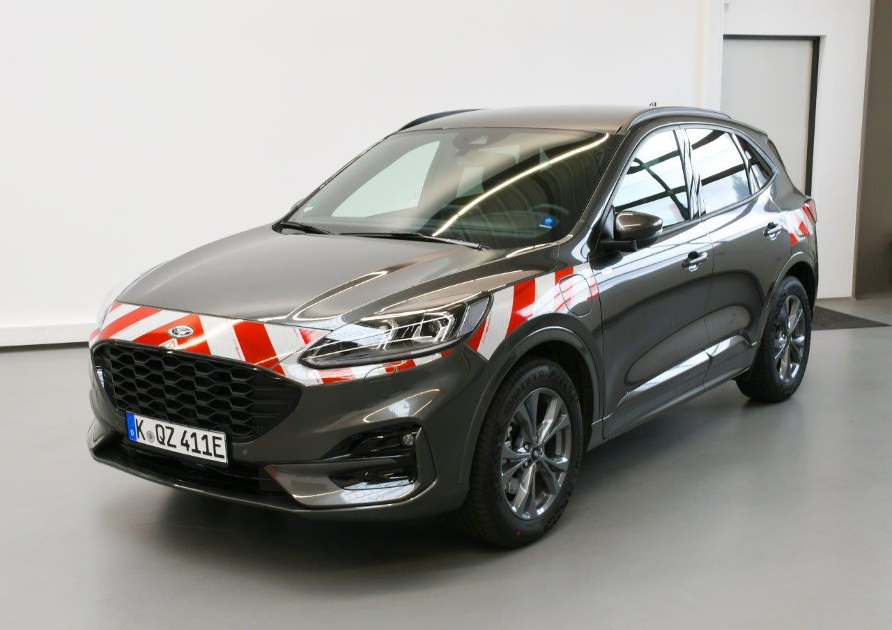 Auch für den neuen Ford Kuga – Warnmarkierungssätze gem. DIN 30710