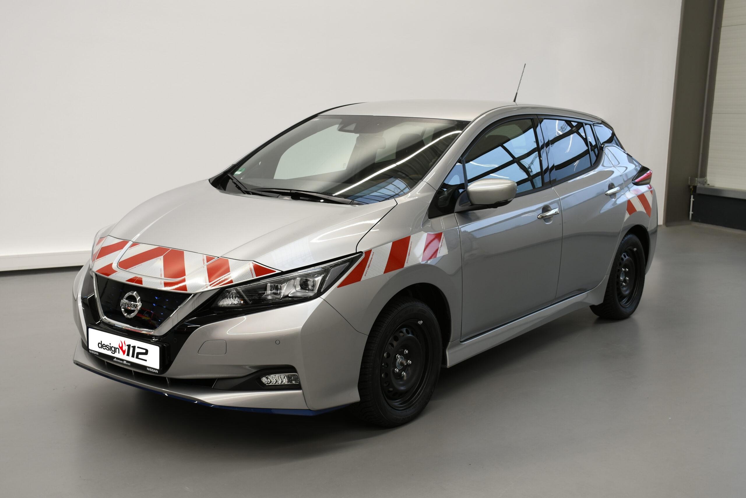 Passgenaue Warnmarkierung nach DIN 30710 für den Nissan Leaf