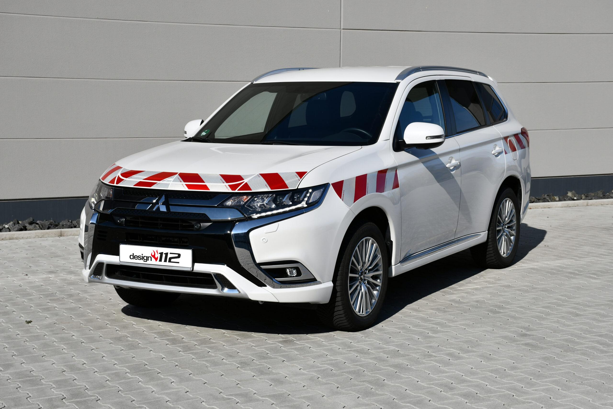 Mitsubishi Outlander (PHEV) – Passgenaue Warnmarkierung gem. DIN 30710